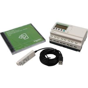 Schneider-Electric Zelio Logic Compact smart relais - SR2PACK2BD | 24V DC | Relais Relais/Transistor | 1 A A/per stuk | 8 A A/totaal | 1 (1kHz) | 4 x 18 characters