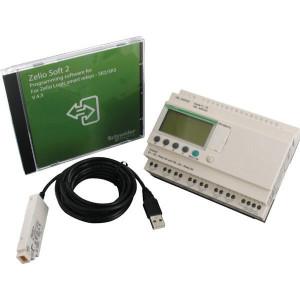 Schneider-Electric ZELIO PACK 26 I-O 100-240 VAC - SR3PACK2FU | 100...240VAC | relais Relais/Transistor | 1 A A/per stuk | 8 A A/totaal | 1 (1kHz) | 4 x 18 characters