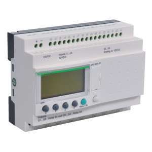Schneider-Electric ZELIO PACK 10 I-O 24 VDC - SR3PACKBD | 24V DC | relais Relais/Transistor | 2 A A/per stuk | 8 A A/totaal | 1 (1kHz) | 4 x 18 characters