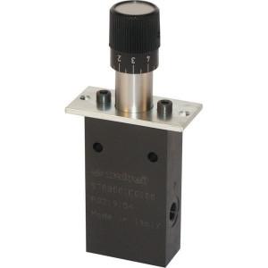 Walvoil Servo-draaiknop - SV70B | Servo ventielen | Nauwkeurig regelbaar | Max. hoek 360° | 20 l/min | 1/4 BSP | 5 l/min | 360 ° ° | 5.8 22 bar