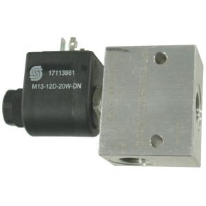 "Comatrol 2/2 Ventiel SVP08NO 12VDC 3/8 - SVP08NO001 | Aluminium | Nitrilrubber (NBR) | 3 bar | 100 % | 35 l/min | 230 bar | 110 mm | 60 mm | 3/8"" BSP"