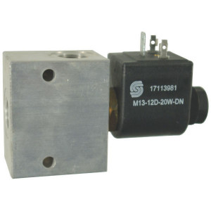 "Comatrol 2/2 Ventiel SVP08NOR 12VDC 3/8 - SVP08NOR001 | Aluminium | Nitrilrubber (NBR) | 3 bar | 100 % | 35 l/min | 230 bar | 110 mm | 60 mm | 3/8"" BSP"