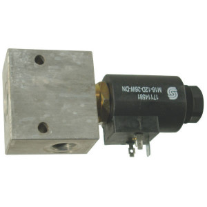"Comatrol 2/2 Ventiel SVP10NC 12VDC 3/8 - SVP10NC001 | Aluminium | Nitrilrubber (NBR) | 3 bar | 100 % | 60 l/min | 230 bar | 115 mm | 60 mm | 3/8"" BSP"