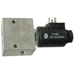 "Comatrol 2/2 Klep SVP10NOR 12VDC 3/8 - SVP10NOR001 | Aluminium | Nitrilrubber (NBR) | 3 bar | 100 % | 60 l/min | 230 bar | 115 mm | 60 mm | 3/8"" BSP"
