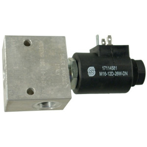 "Comatrol 2/2 Klep SVP10NOR 12VDC - SVP10NOR003 | Aluminium | Nitrilrubber (NBR) | 3 bar | 100 % | 80 l/min | 230 bar | 120 mm | 70 mm | 1/2"" BSP"
