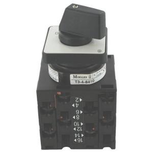 Eaton Sterdriehoekschakelaar 6,5kW - T048410E | 3 NO | 6,5 kW | Inbouw | IP65 (front) IP