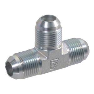"Alfagomma T-koppeling M 7/16 UNF - T07 | Verzinkt | 7/16"" UNF/JIC | 380 bar | 6 mm | 1/4"" Inch"