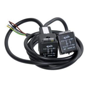 ATAM/CNE DIN43650A Kabel,diode,24V,1.5m - T11D54A420150 | 0.5 mm² mm² | 12..30VDC | 1.5 m