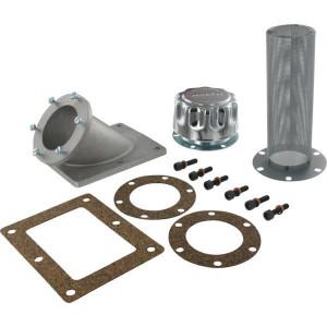 Mintor Tankvuldop 43' schuine aansluiting TCARI - TAS4080 | Schuine inloop | Tankinbouw | Aluminium flens | aluminium flens. | 10 µm µm