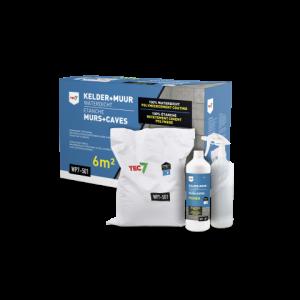Tec7 WP7-501 Kelder 10 kg + Muur Waterdicht 1 liter - 602090000 | Polymeercement coating