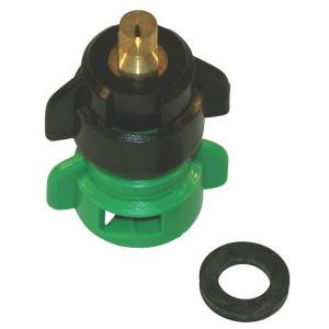 Agrotop Venturi kantdop TDOC 80° groen - TDOC80015 | 2 10 bar | Messing vernikkeld | 80°