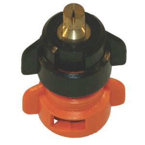 Agrotop Venturi kantdop TDOC 80° oranj - TDOC8001 | 2 10 bar | Messing vernikkeld | Oranje | 80°
