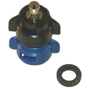 Agrotop Venturi kantdop TDOC 80° blauw - TDOC8003 | 2 10 bar | Messing vernikkeld | 80°