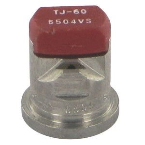 TeeJet Dubbele spleetdop TJ 65° rood RVS - TJ606504VS | 2 4 bar | 12 mm | 65°