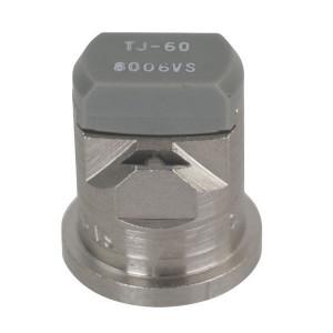 TeeJet Dubbele spleetdop TJ 80° grijs RVS - TJ608006 | 2 4 bar | 12 mm | 80°