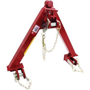 Koppeldriehoek - TL150678KR | 420 mm | 335 mm | Kommunal | Rood geverfd (RAL3003)