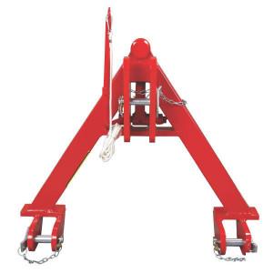 Koppeldriehoek cat. 0 - TL150779 | 600 mm | 480 mm | Rood geverfd (RAL3003)