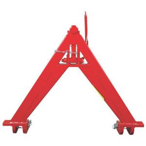 Koppeldriehoek cat. 1 - TL150834 | 750 mm | 680 mm | Rood geverfd (RAL3003)
