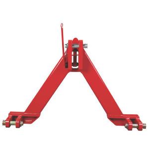 Koppeldriehoek cat. 3 - TL151006 | 750 mm | 950 mm | Rood geverfd (RAL3003)