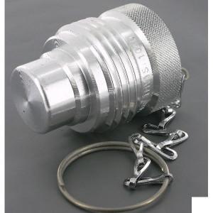 "Faster Stofplug aluminum voor VV & VVS-3/8"" - TMVM38SB | VV, VVS | 3/8"" | Zilver met rode strip"
