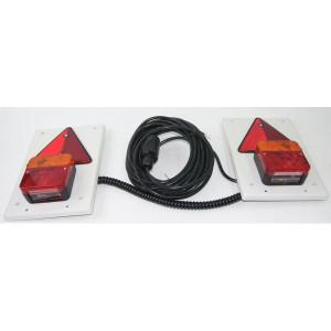 Verlichtingsset 10 m kabel - TOR2385   waarschuwingsdriehoeken   3000 mm