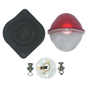 Rubbolite Breedtelamp rood/wit - TOR2676