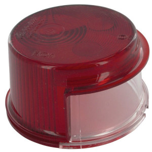 Rubbolite Lampglas wit/rood - TOR2686