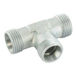 Gopart T-koppeling 50 stuks - TS10LP050GP   Minder kans op lekkage   CR6-vrij verzinkt   DIN 2353   10 mm   400 bar   M16x1,5