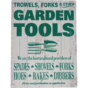 "Tractorfreak Bord ""Garden tools"" - TTF0118 | Tin (Metaal) | 300x400 mm"