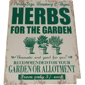 "Tractorfreak Bord ""Authentic herbs promo"" - TTF0119 | Tin (Metaal) | 300x400 mm"