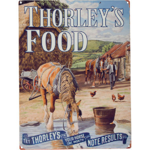 Tractorfreak Bord Thorley's Food - Horse - TTF0123 | Tin (Metaal) | 300x400 mm