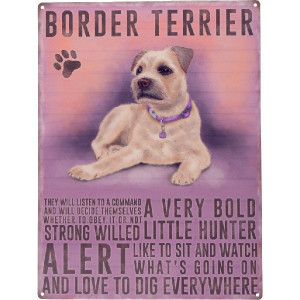 Tractorfreak Bord Border Terrier - TTF0130 | Tin (Metaal) | 300x400 mm