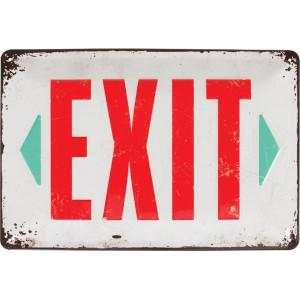 "Tractorfreak Bord ""Exit"" - TTF0148 | Tin (Metaal)"