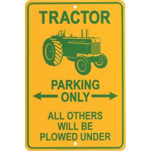 "Tractorfreak Bord ""None Tractor parking onl - TTF1110 | Aluminium | 200x300 mm"