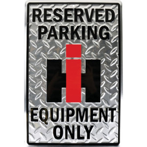 "Tractorfreak Bord ""IH reserved parking"" - TTF5113 | Aluminium | IHC International | 305x455 mm"