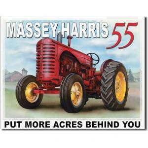"Tractorfreak Bord ""Massey Harris 55"" - TTF6180 | Tin (Metaal) | 315x405 mm | Massey Harris"