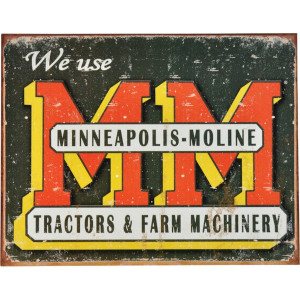 Tractorfreak Bord Minneapolis Moline Logo - TTF9130 | Tin (Metaal) | Minneapolis Moline | 315x405 mm