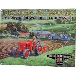 Tractorfreak Bord David Brown Super Cropma - TTF9140 | Tin (Metaal) | David Brown | 300x400 mm