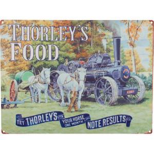 Tractorfreak Bord Thorley's Food-Stoommach. - TTF9146 | Tin (Metaal) | 300x400 mm