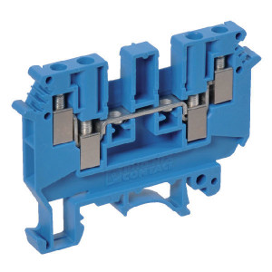 Phoenix Contact Aansluitklem, blauw, Phoenix - UDK4BU | 63,5 mm | 6,2 mm | 47 mm | 6 mm² | 4 mm² | 1,5 mm²