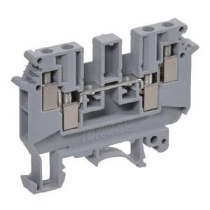 Phoenix Contact Aansluitklem met 3 aansl. grijs - UK5TWIN | 50,5 mm | 6,2 mm | 47 mm | 4 mm² | 4 mm² | 2,5 mm²