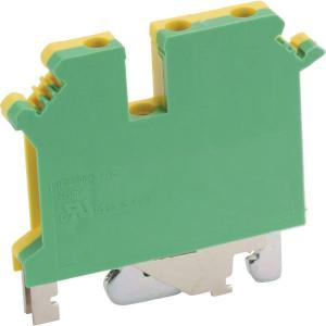 Phoenix Contact Aansluitklem met 3 aansl. groen/geel - UK5TWINPE | 50,5 mm | 6,2 mm | 47 mm | 4 mm² | 4 mm² | 2,5 mm²