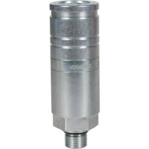 Voswinkel Koppelhuis M18x1.5 uitwendig - UX101AMF18L | UX10-1-AMF18L | NBR / PTFE | Wit gepassiveerd | Faster 3CFPV...F | M18 x 1,5 A | 38 mm | 110.8 mm | ISO 7241-1-A | 250 bar
