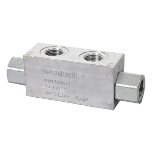 "Walvoil Gest. terugslagklep 3/8 BSP - VBPDL03002 | 1/4"" 3/4"" BSP | Tussen de leiding | Tot 100 l/min. | 120 mm | 110 mm | 25 l/min | 3/8 BSP"