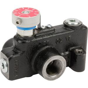 """Webtec 3-way flow ctrl vlv 0–30 l/min - VFD120RD080J   250 bar   114 l/min   Gietijzer   0 30 l/min   3/4"""" BSP   3/4"""" BSP   114 l/min P   30 l/min REG"""