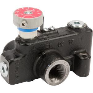 """Webtec 3-way flow ctrl vlv 0–76 l/min - VFD120RD200J   250 bar   114 l/min   Gietijzer   0 76 l/min   3/4"""" BSP   3/4"""" BSP   114 l/min P   76 l/min REG"""