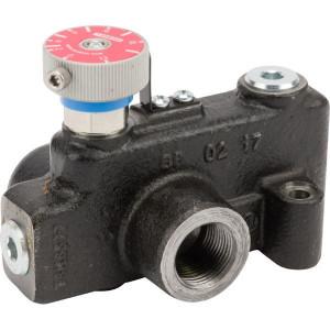 """Webtec 3-way flow ctrl vlv 0–95 l/min - VFD120RD250J   250 bar   114 l/min   Gietijzer   0 95 l/min   3/4"""" BSP   3/4"""" BSP   114 l/min P   95 l/min REG"""