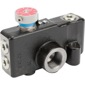 """Webtec 3-way flow ctrl vlv 0–114 l/min - VFD190RD300B3   250 bar   114 l/min   Gietijzer   0 114 l/min   3/4"""" BSP   3/4"""" BSP   114 l/min P   114 l/min REG"""