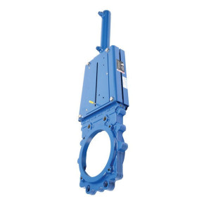 "Ramus Schuifafsluiter + hydr. cil. DN150 - VGRDEH150 | 150 mm | 2,5 bar | 664 mm | 40/25 mm | G 3/8"" | 795 mm | 150 mm | 4x M12x14 mm"