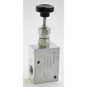 "Walvoil Drukregelventiel - VMPB10002 | Van P naar T. | 210 bar bar | 3/8""BSP | 144 mm | Handwiel | 35 l/min | 50 200 bar"